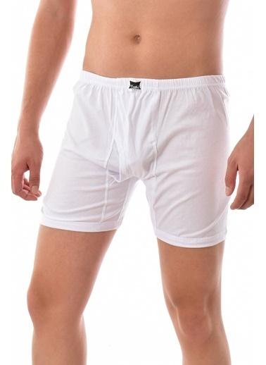 Tutku 12 Adet  0110 Erkek Paçalı Boxer BEYAZ Beyaz